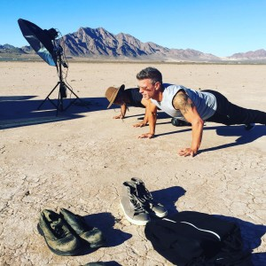 On Location Rob getting his model on with fitness photographerhellip