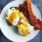 Sunday Funday Brunch Avocado Egg Benny amp Crisy Bacon fromhellip