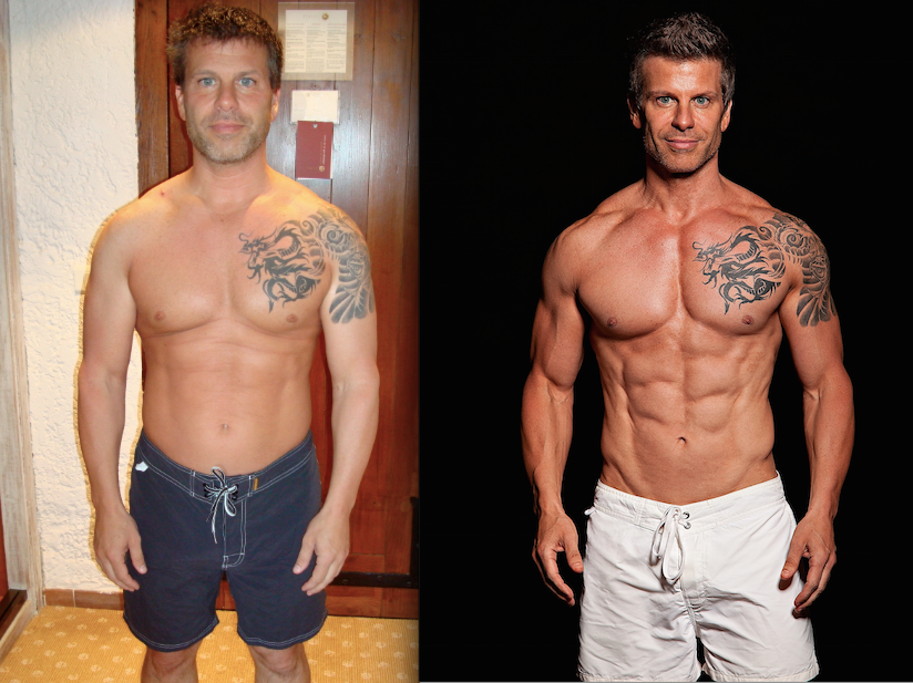 Jet Set Body Mens Before After
